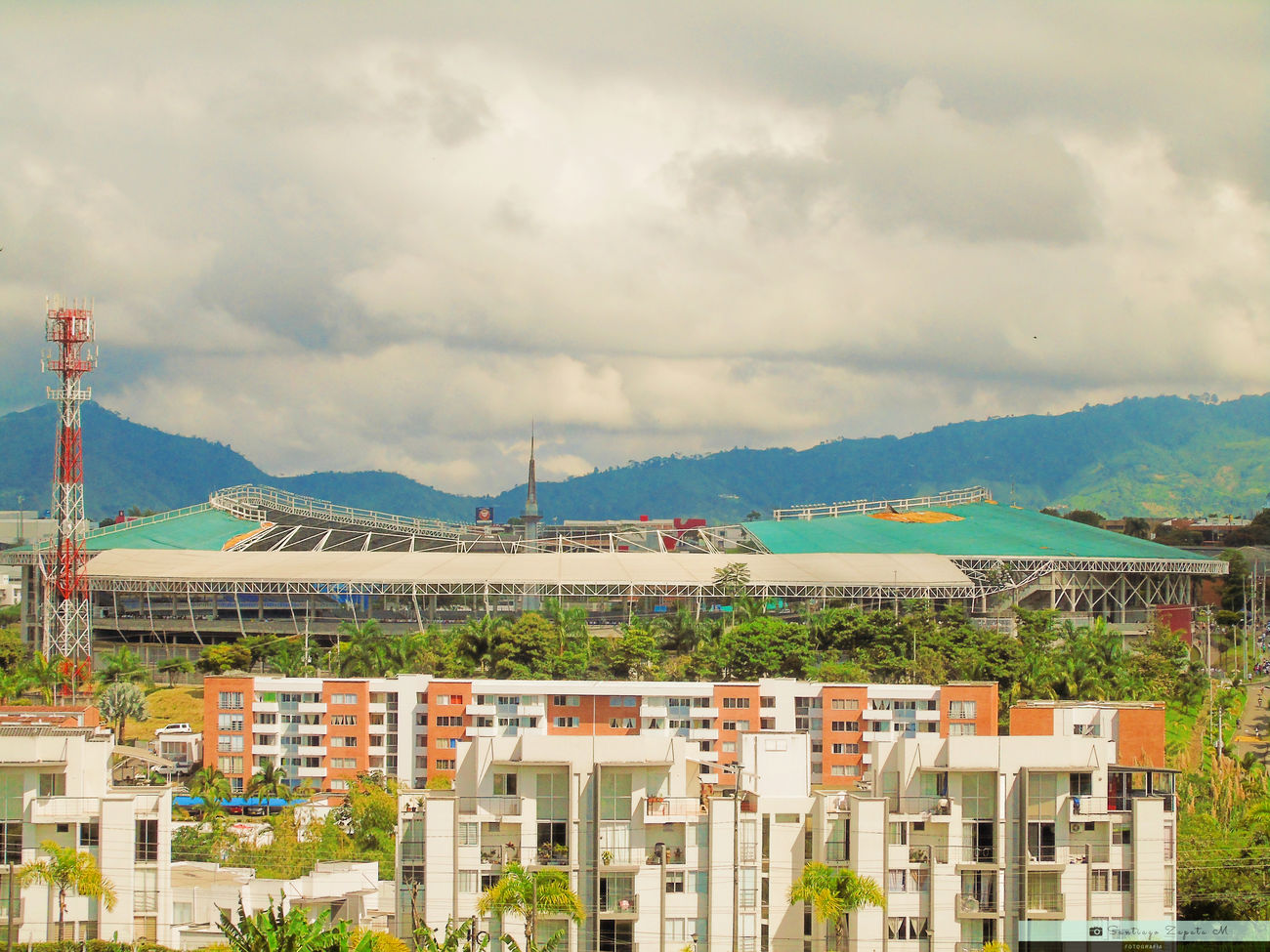 Architecture Building Exterior Built Structure City Cityscape Cloud - Sky Colombia Day Estadio Mountain Mountain Range No People Outdoors Pereira Sky