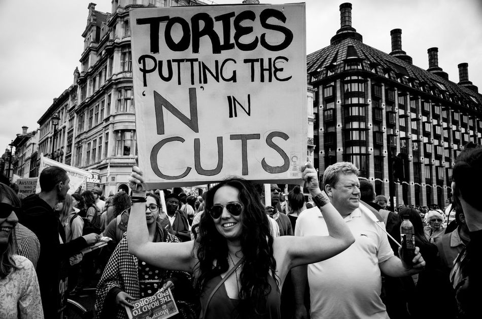 Well done Tories, you have exceeded all my expectations here, but I wish you did not create a mess called Brexit. Monochrome Photography London Rawstreets Street Photography Maxgor.com Streetphotography Maxgor Street Streetphotography_bw Blackandwhite Leica Xvario Peope Leica Black And White Streetphoto_bw Demo Large Group Of People Street City