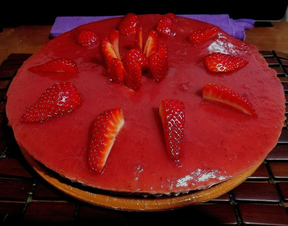 Cheesecake Fragole Strawberries Food Ready-to-eat Sweet Food Red Dessert Temptation