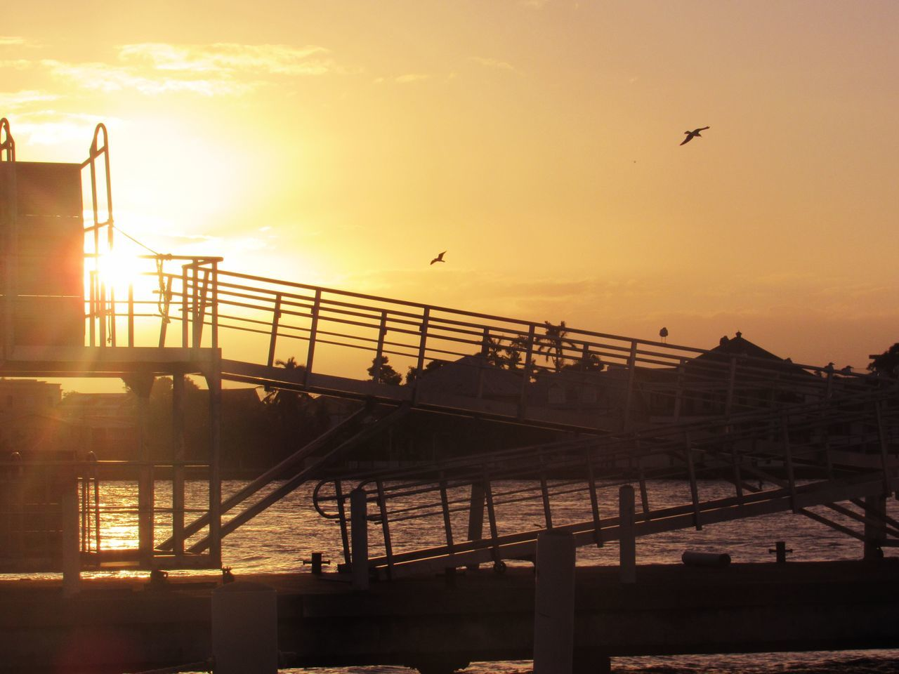 Sunset Railing Travel Destinations Built Structure Steps And Staircases No People Architecture Sun Sky Golden Hour Belize Harbour Nautical Vessel Vacations Harbour Lights Harbour View Belize City Belize  Harbour Life Scenics Tranquil Scene