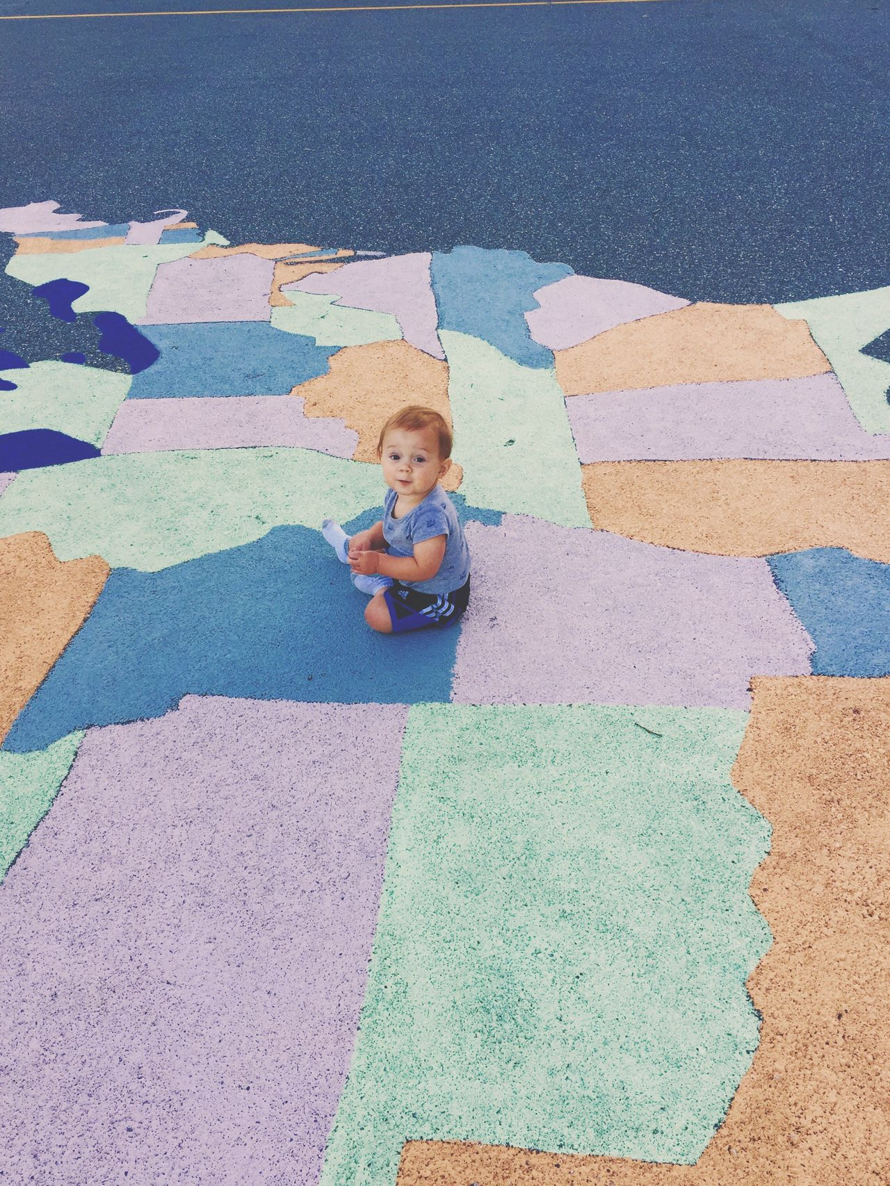 State States Multi Colored United States Paint Park Baby Babyboy Feel The Journey Roadtrip Planning Ahead