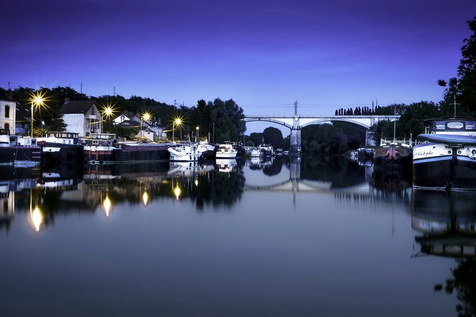 France Saint Mammės Landscape Riverside Nightphotography