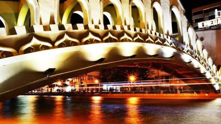 Light Nightphotography Environment Relaxing Historical Building Malacca Riverside Malaysia Tourist Attraction