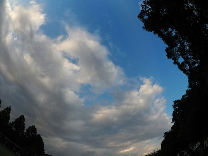Fisheye Sky From My Point Of View Skyporn Clouds And Sky Taking Photos Relaxing