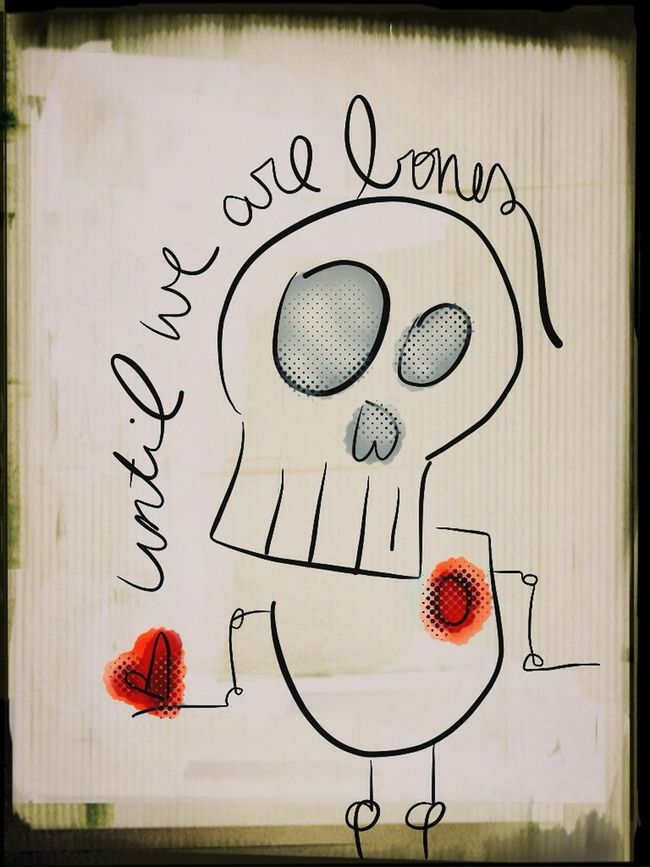Drawing: Until We Are Bones Drawing Skull Heart Astacia