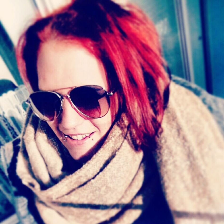 ✌✌✌ Women Smiling Beautiful Woman Beauty People One Person Fashion Relaxing Cheese! Borkum, Germany Portrait Piercings Only Women Hello World Sunglasses Ich Liebe Es.♥  Redhead Portrait Looking At Camera Young Adult Fashion Eyeglasses  One Person Adults Only One Young Woman Only