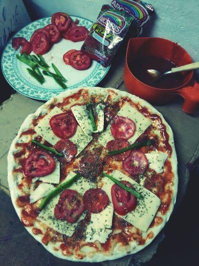 A mal tiempo.. buen morfi..... Pizza