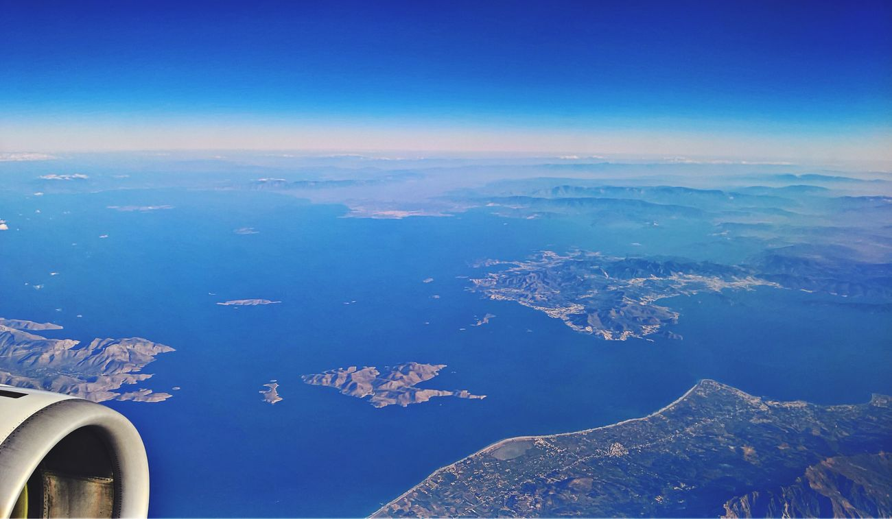Flight over the Greek islands Flight Sky Sea And Sky Sea Sky And Clouds Greece GREECE ♥♥ Island Traveling Nature Beauty In Nature Aerial View Blue Flying No People Landscape Nature Check This Out Nature Photography Beautiful Nature Eye4photography  Seascape Enjoying The View Beauty In Nature