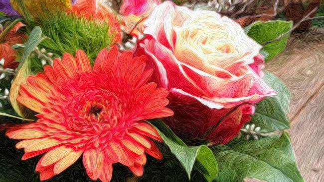 Bouquet Of Flowers Fine Art In Our Garden Berlin Tempelhof