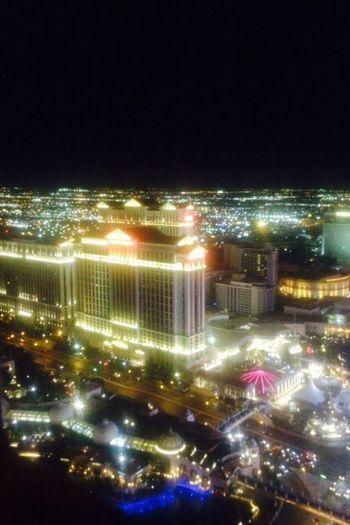 Aerial Shot Hotel Las Vegas Viva Las Vegas Night Lights Last December Vacations View Amazing View Vegas
