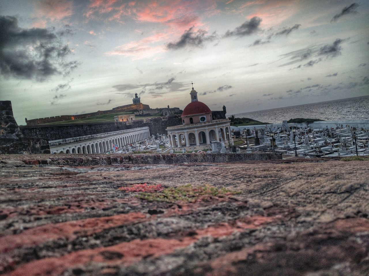 architecture, built structure, building exterior, cloud - sky, sky, sunset, spirituality, religion, travel destinations, history, place of worship, outdoors, no people, dome, nature, water, city, day