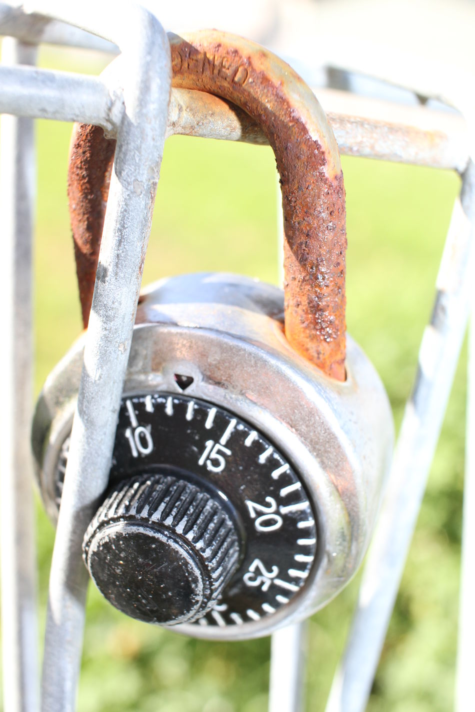 Close-up Daylight Gate Hanging Outdoors Paddlock Rustic Charm Safety