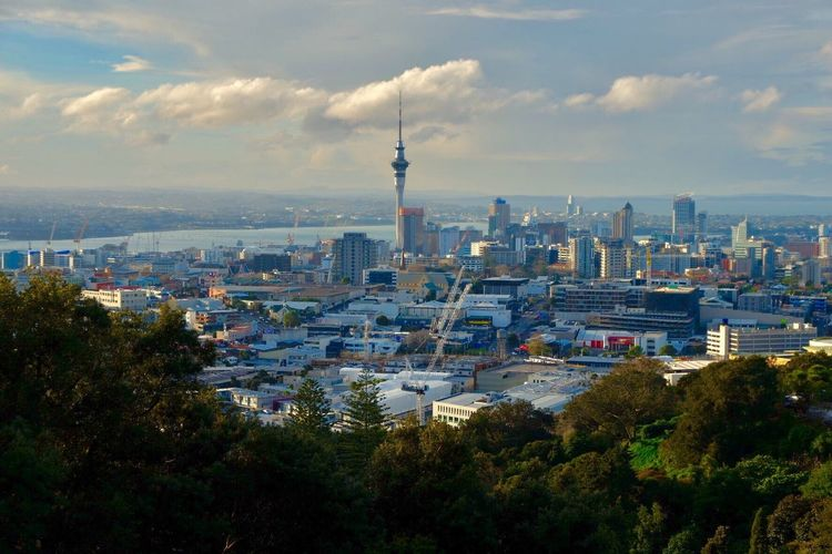 City views from Mt. Eden. Sky Cloud - Sky Cityscape City Travel Destinations Outdoors Landscape Tower Urban Urban Skyline Urbanphotography The Week On EyeEm Mix Yourself A Good Time