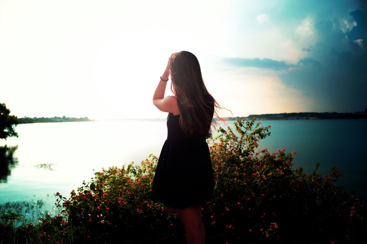Long Hair Standing One Person Three Quarter Length Rear View Young Adult Nature Real People Young Women Plant Women Sky Water Outdoors Beautiful Woman Beauty In Nature One Young Woman Only Day Adult People