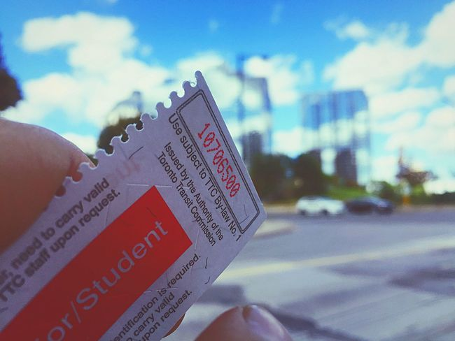 The Color Of School Ttc Ticket Busstop Going To School Student Highschooldays Text Western Script Focus On Foreground Communication Close-up Selective Focus Message Holding Outdoors Person Day Cloud - Sky Sky