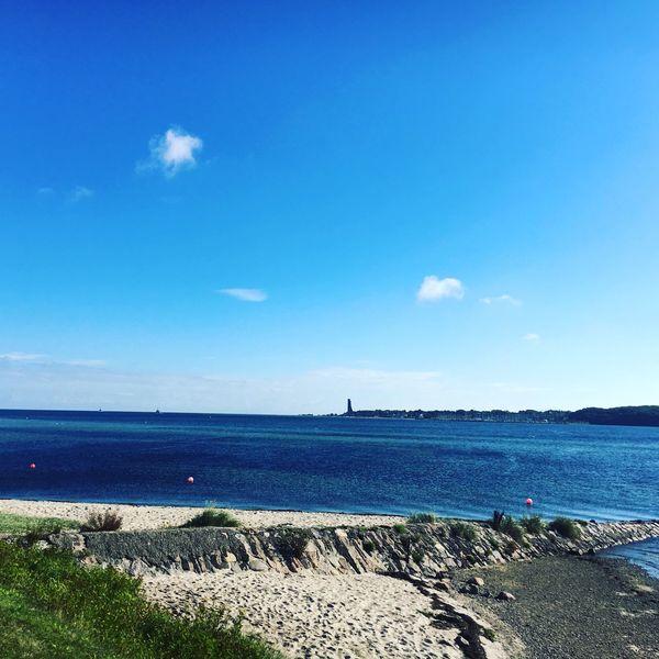 Sea Water Blue Horizon Over Water Outdoors Beauty In Nature Beach Cloud - Sky Mega Schön