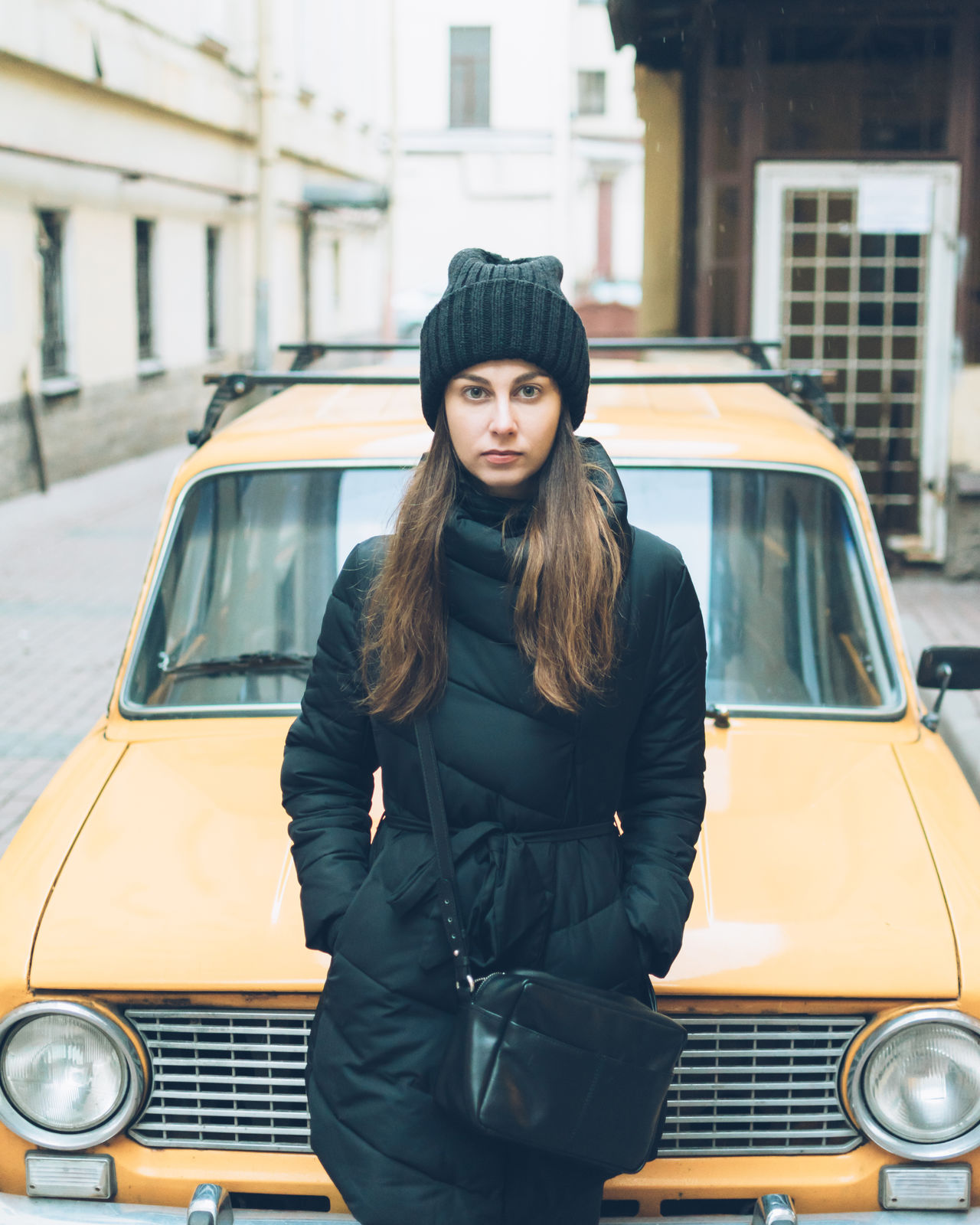 Beautiful stock photos of russia, 20-24 Years, Beautiful Woman, Black Color, Car