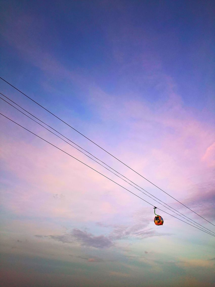 Skytrain Skytrainview Sunset Flying Outdoors Low Angle View Cloud - Sky Day Lonely Objects Lonely Road