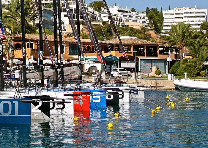 Architecture Boat City City Life Enjoying Life Fine Art Photography Harbor Hidden Gems  In A Row Leisure Activity Mallorca Mediterranean Sea Mode Of Transport Modern And Traditional Nautical Vessel Numbers Outdoors Port Puerto Portals Sailboat Sailing Seaside SPAIN The Color Of Sport Village
