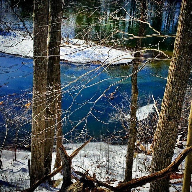 I really like this one Good Igersnh Tilton River water frozen ice photography