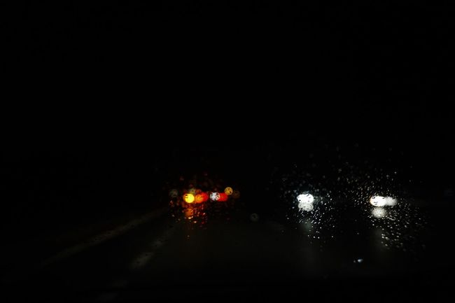Another Rainy Day Atmosphere Dark Driving Around Headlights Illuminated Light Mystery Night On The Road Rain Road Sony Sony A6000