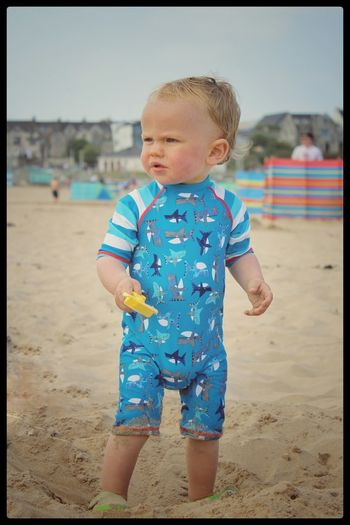Beach Photography People Of The Oceans Toddlerlife On The Beach Beach Life Northern Ireland EyeEm Best Shots Our Best Pics Beach Baby The Essence Of Summer Portrait Cute EyeEm Gallery Babyboy Seaside Sea_collection Showcase June Portrush