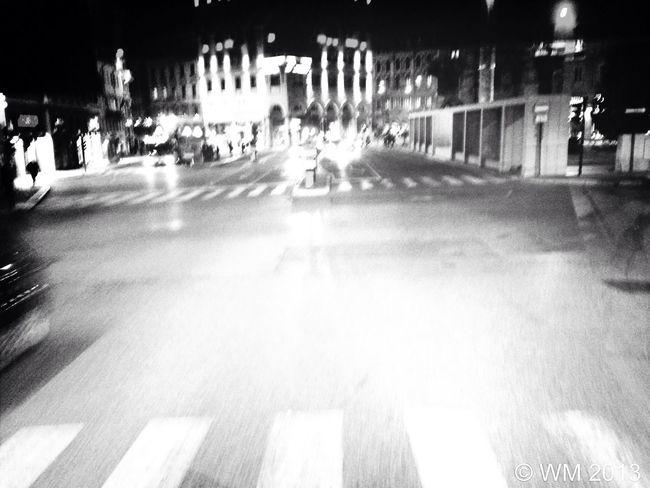 Night crossroad Bus Bus Nation Crossroads Blackandwhite