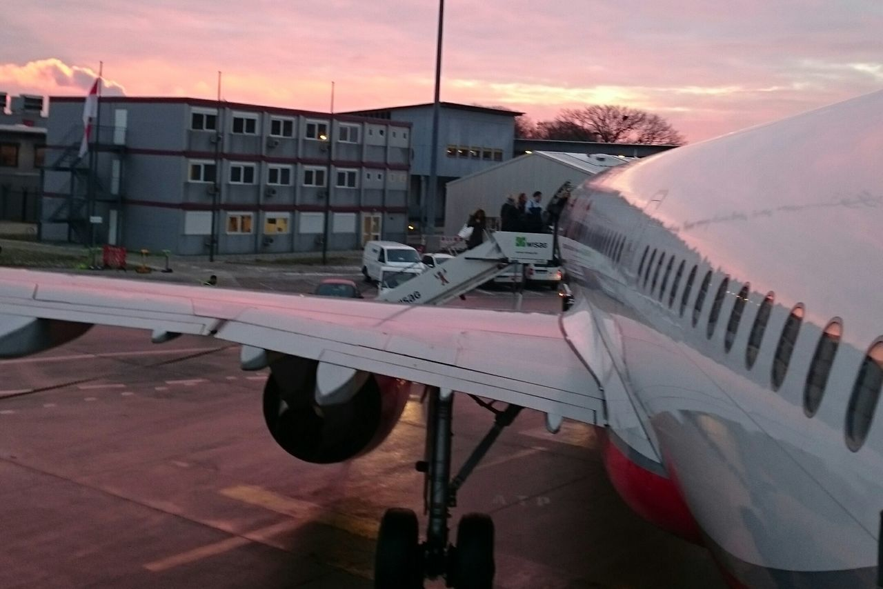 Travel Trip Flight Airport Aerospace Industry No People Sunset Winter Sky Outdoors Day