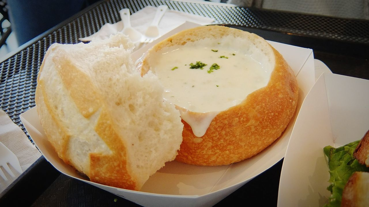Bread Bowl Clamchowder Soup Breakfast Chowder Tourism Foodie Food Sanfrancisco California Fisherman's Wharf Lunch Eating EyeEm Best Shots Creamy