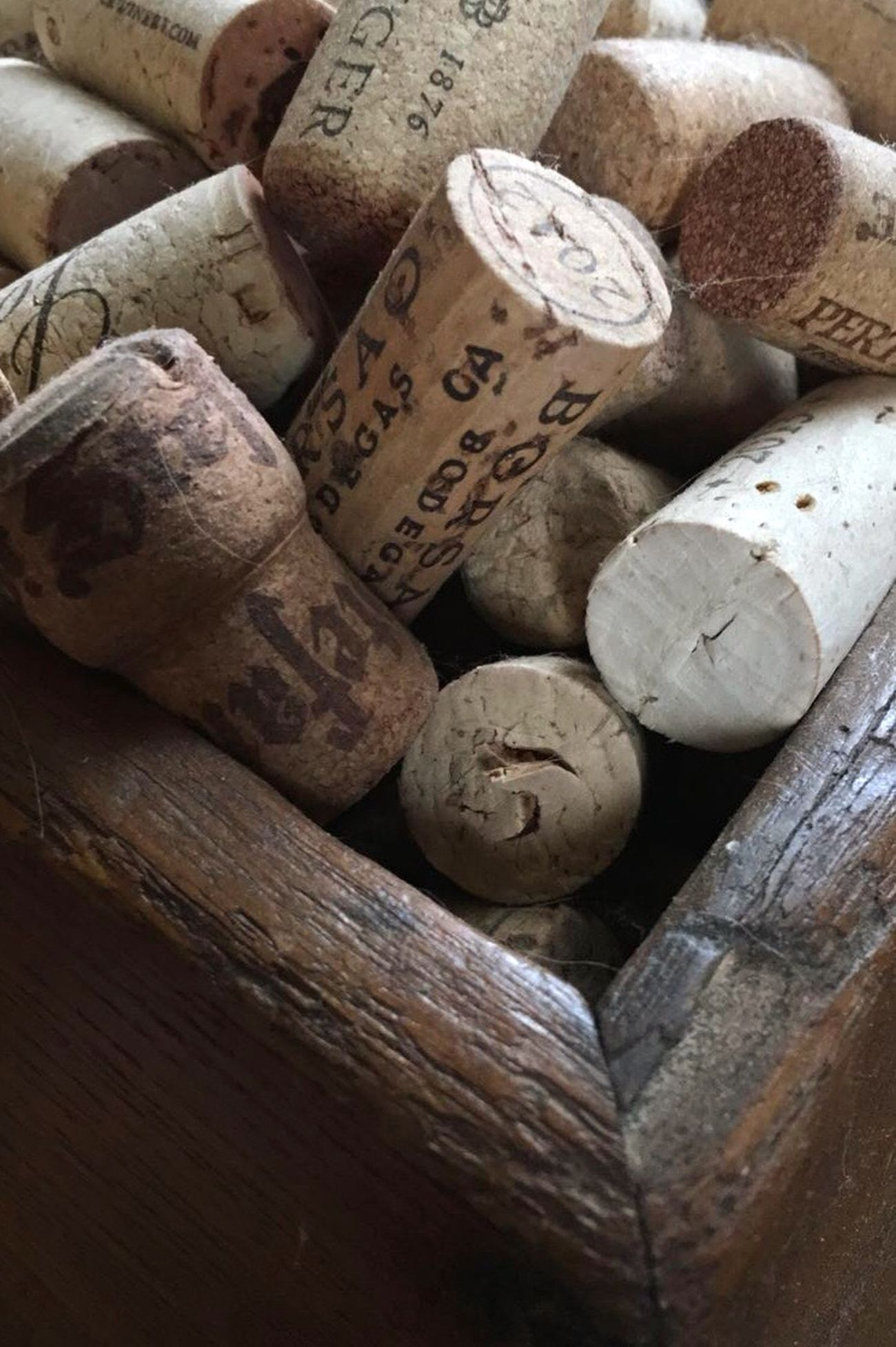 Corks No People Wine Cork Wine Backgrounds Neutral Wood Drink Close-up Perspective Brown