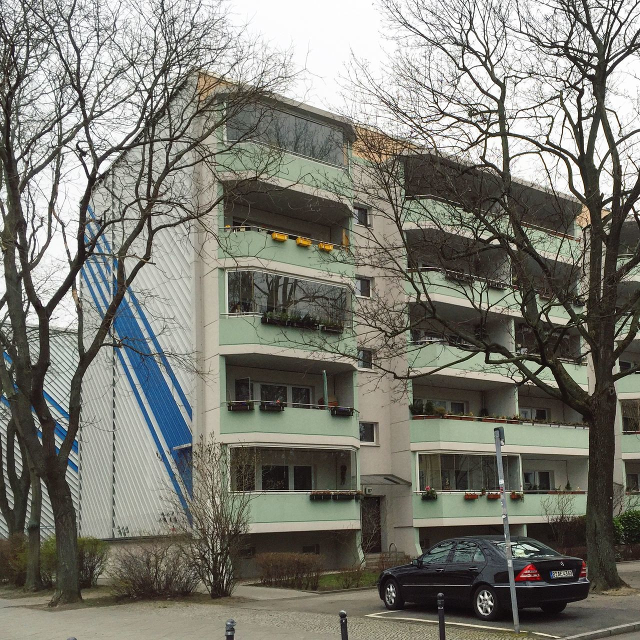 Abstract Architecture Architecture_collection Balcony Bare Tree Berlin Photography Berliner Ansichten Berlinstagram Branch Building Exterior Built Structure Car City Façade Land Vehicle Minimal Mode Of Transport No People Outdoors Plattenbau Sky Stationary Transportation Tree Treptow