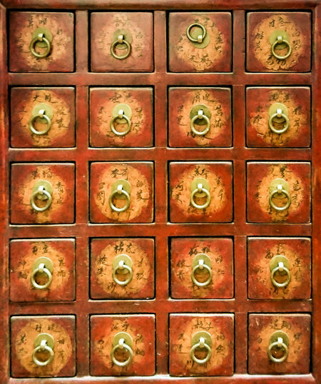 Chinese Medicine Cabinet Antique Cabinet Chinese Medicine Furnitures Herb Indoors  No People Traditional Wood - Material