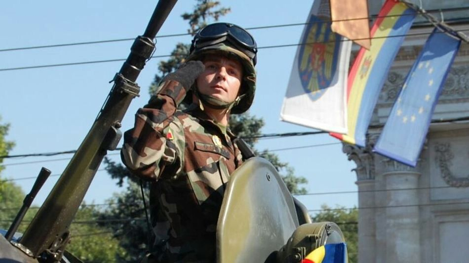 Independence Day Republic Of Moldova Solider Salutes