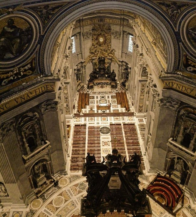 SanPietro Pietro Low Angle View Church Indoors  Religion Architecture Place Of Worship Religion Spirituality Built Structure Religion Cathedral Arch Façade Steps Staircase Travel Destinations Architectural Feature Tourism Day Famous Place