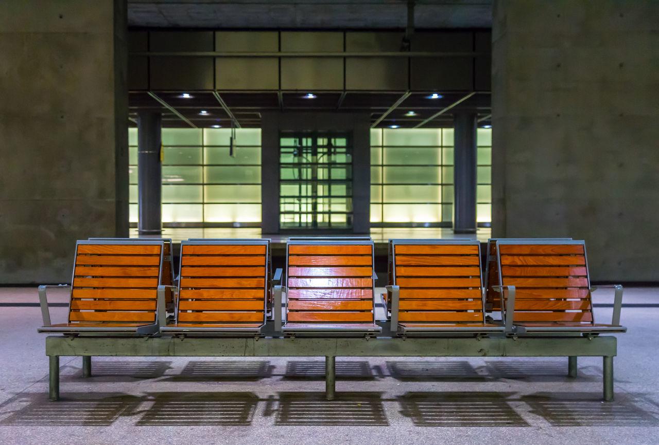Architecture Architecture Bahnhof Bench Built Structure Day Empty Indoors  No People Seating Bench Shelf Sitzbank Station Underground Underground Station