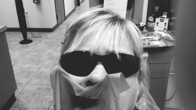Dentist Visit Prop Open Mouth No Questions Can't Talk Back Showing Imperfection Up Close Street Photography
