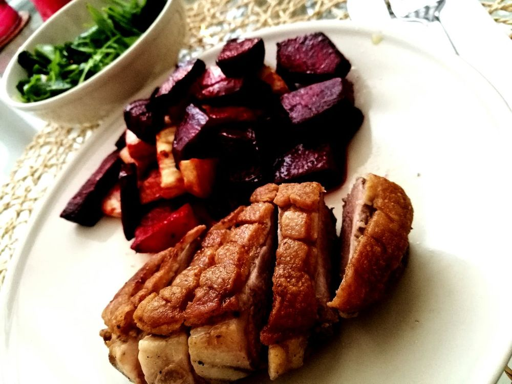 Food Ready-to-eat Healthy Eating Duck Meat Beetroot Celery Dinner Dinner Time