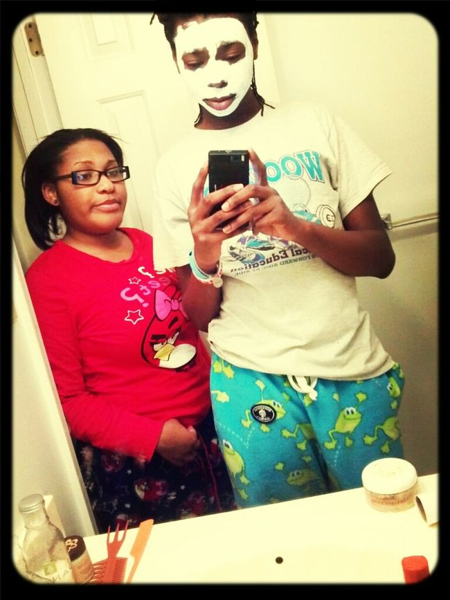 she gave me a facial <3
