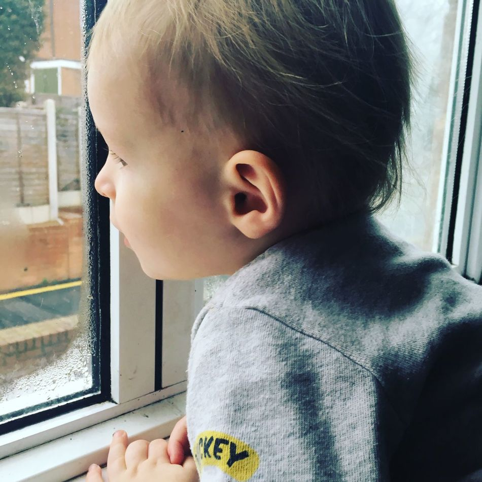 My little world Son Love Adore Window London Snowing ❄ Cold Winter