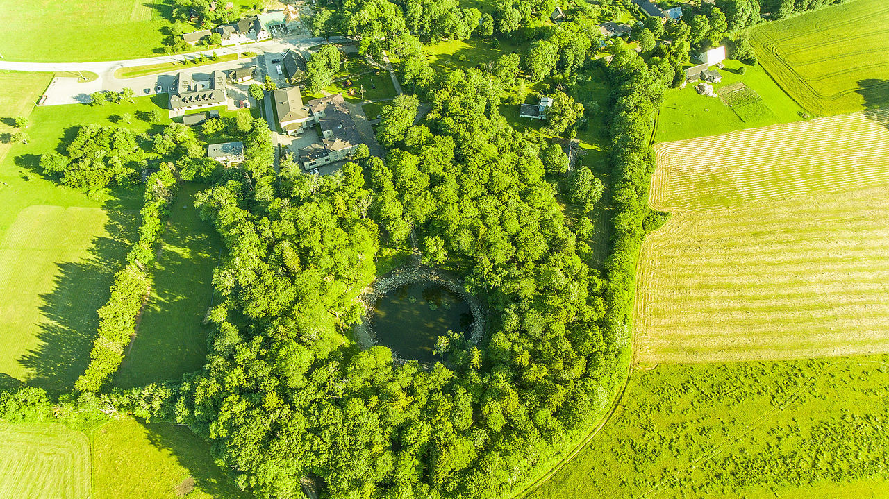 Aerial View Aero Estonia Fromabove Green Color Kaali Meteor Crater Nature Nature No People Outdoors Saaremaa Sunlight Tree Trees