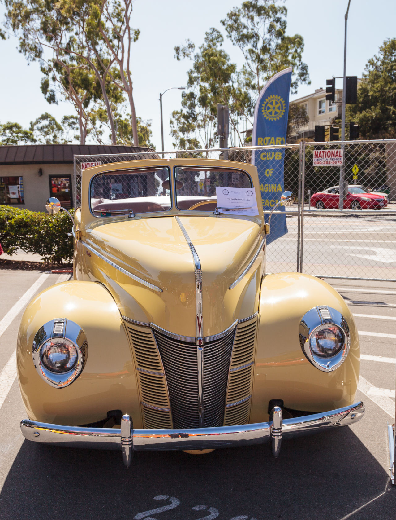 Laguna Beach, CA, USA - October 2, 2016: Yellow 1940 Ford Deluxe Convertible owned by Larry Davis and displayed at the Rotary Club of Laguna Beach 2016 Classic Car Show. Editorial use. 1940 Car Show Classic Car Classic Car Show Convertible Day Deluxe Ford Laguna Beach, CA No People Old Car Outdoors Vintage Car