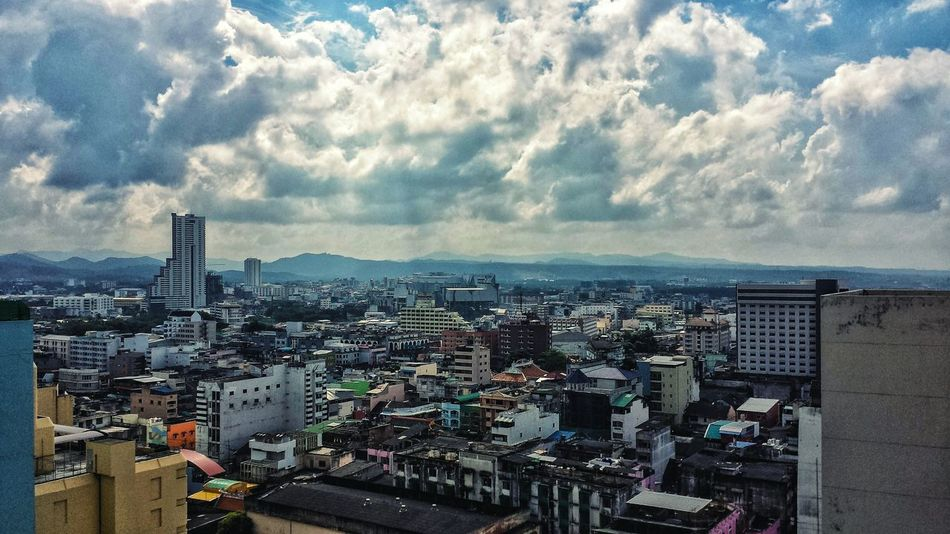 Hat Yai Showcase: January Urban Downtown ASIA Southeast Asia Outdoors Southern Thailand Songkhla Blue Sky Mountain Clouds Cityscape Landscape City High Angle Songkhla Province A Bird's Eye View
