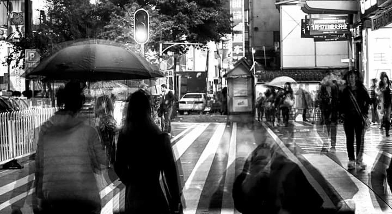 """Life unexpected"" it's raining feelings... Hong Kong Harbour Streetphoto_bw Blackandwhite Streetpeople Helloworld Rainy Days Rainy Night Travel Photography Traveltheworld Hongkonger Hongkongstreet Black&white Street Photography The Street Photographer - 2017 EyeEm Awards"