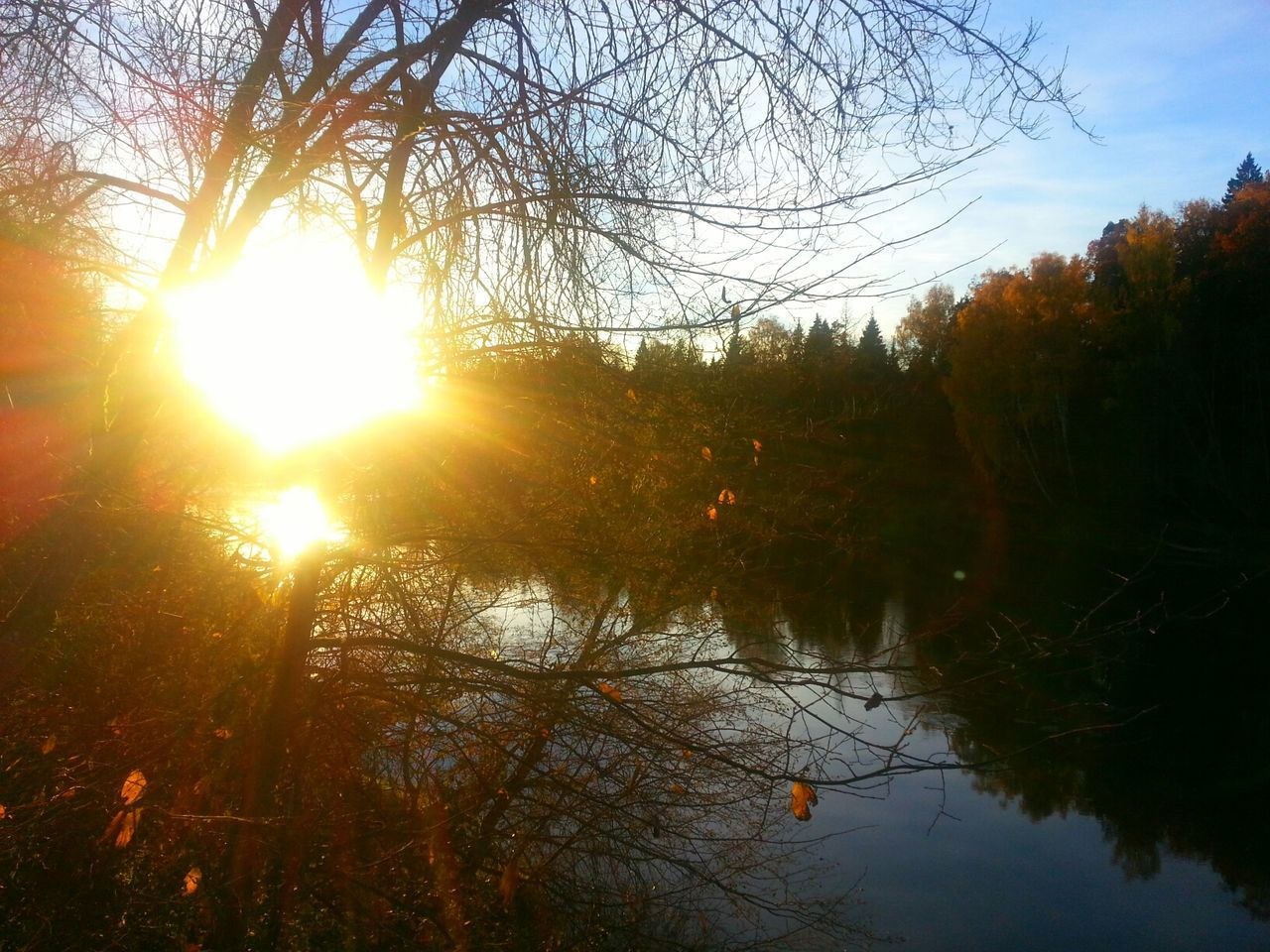 Autumn Autumn Colors Water_collection Sunset