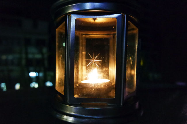 The fire in me Dark Fire Fire Lamp Flame Glowing Illuminated Lamp Lamp Light Light Lit Mystery Night Orange Color Star