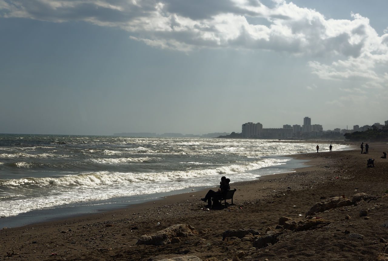 Mersin Beach Beach Beauty In Nature Cloud - Sky Day Horizon Over Water Leisure Activity Men Mersin Mersin Turkey Mersinsahil Nature Outdoors Real People Sand Sandy Beach Scenics Sea Sea And Sky Shore Sky Storm Stormy Weather Vacations Water Wave