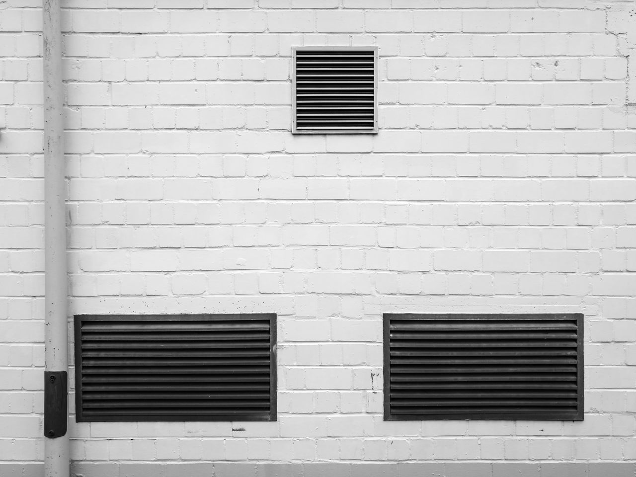 Monochromewall Architectural Detail Architecture Architecture_collection Architecturelovers Blackandwhite Photography Brick Wall Building Exterior Built Structure Cityexplorer Close-up Minimal Minimalism Minimalist Architecture Minimalistic Monochrome Monochrome Photography No People Schwarzweiß Simplicity Wall - Building Feature