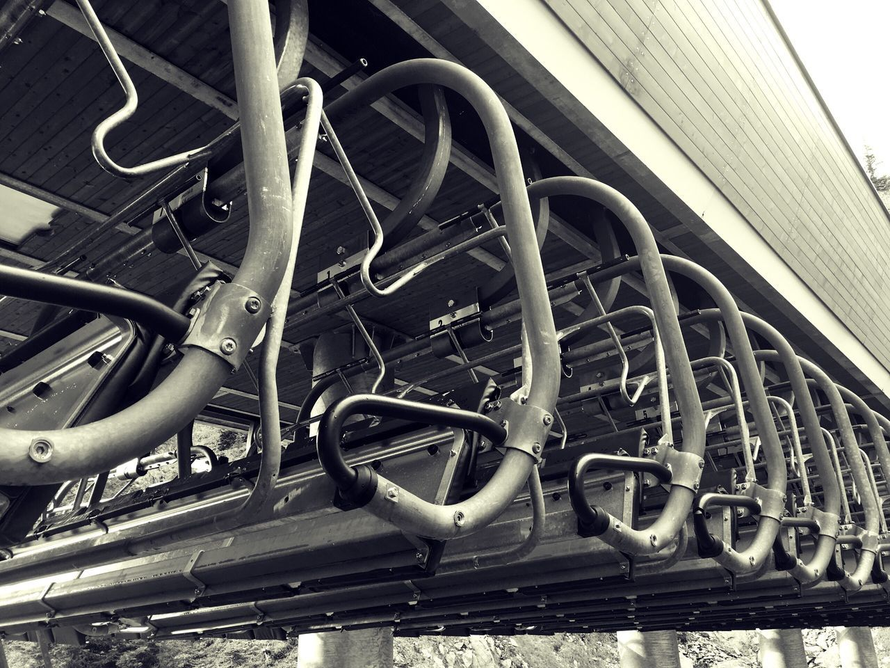 Transportation Metal No People Industry Close-up Outdoors Engine Day Air Conditioner Ski Lift Ski Resort  Off Season Monochrome Photography Mountain