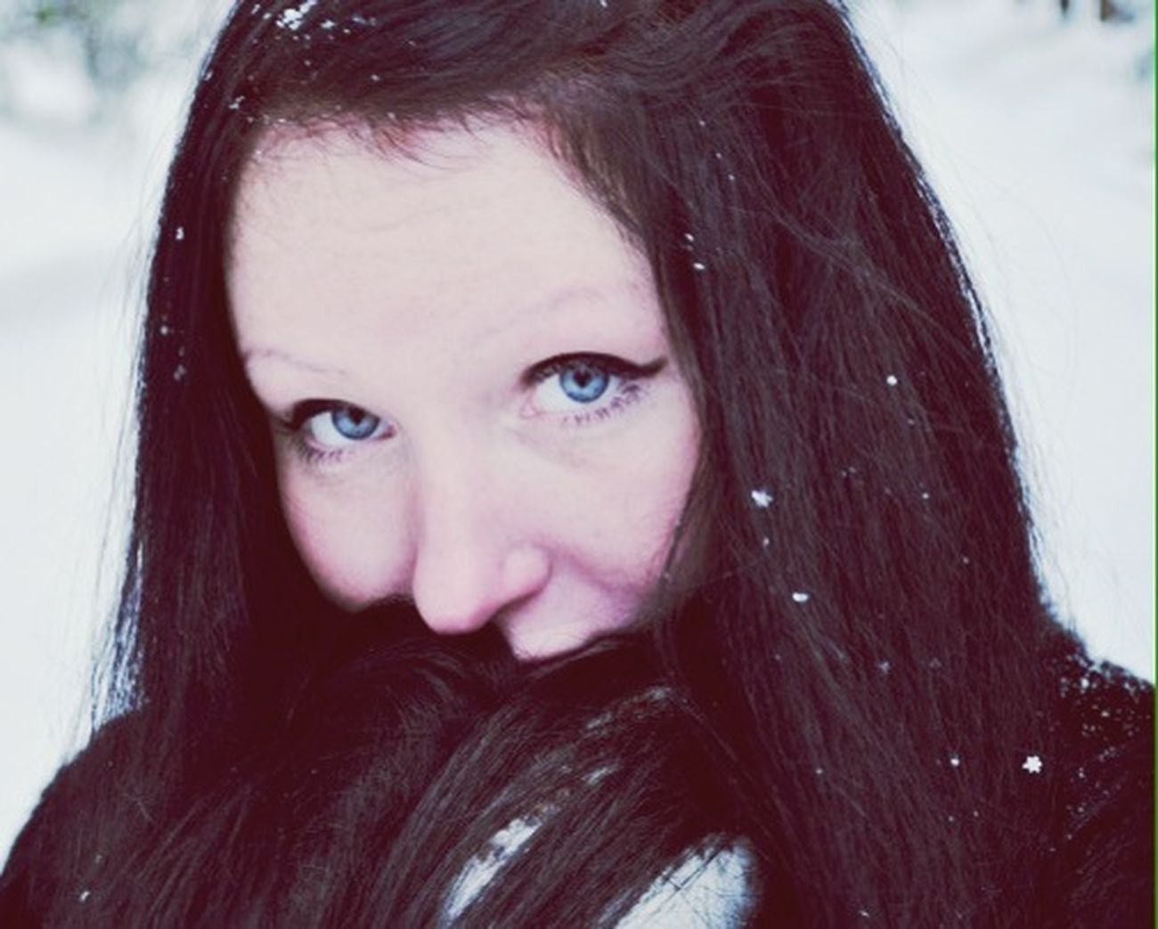Winter Portrait Eyes Girl