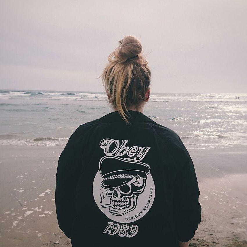 OBEY Obeygiant Obey Propaganda Beach Jacket Windbreaker Ocean Huntingtonbeach Outfit Clothing